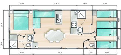 Atlantic mobil 39 park for Mobil home louisiane 3 chambres prix